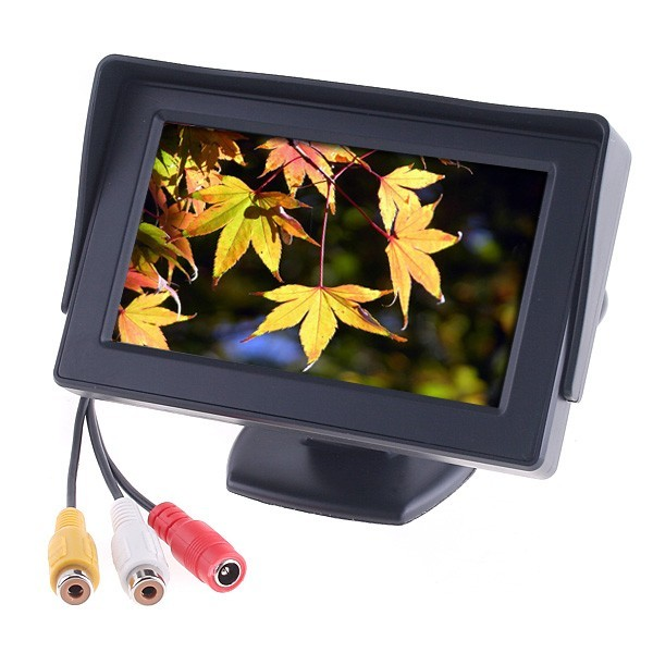 "4.3"" Color Car Rearview video Monitor  LCD display  for car rear Camera DVD VCR free shipping"