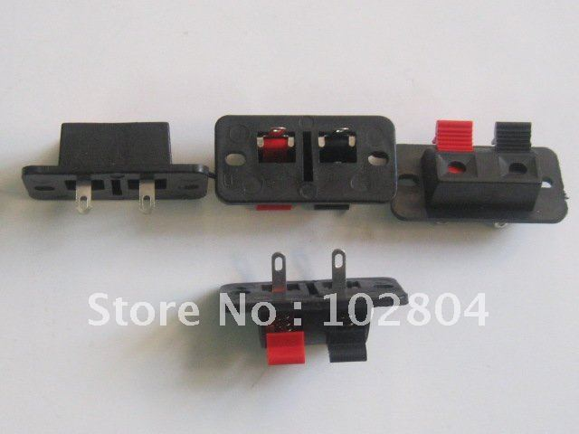 38x19mm 2pin Red and Black Push Type Speaker Terminal Board Connector HOT Sale 50 Pcs Per Lot  HIGN Quality