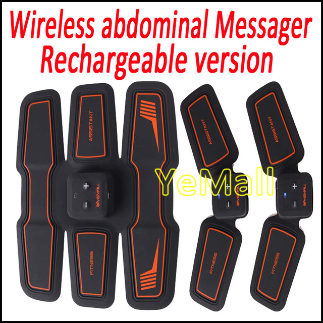 Wireless Electronic Muscle Toner Fitness System Body Massager Stimulation Toning EMS Training Gear Fit For Arm Abdomen Thigh