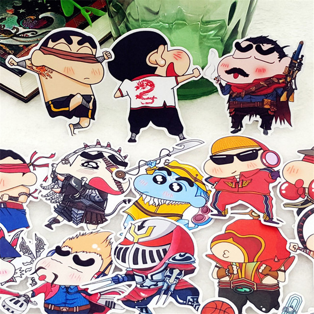 20 Pcs Anime boy national wind Decorative Stickers Adhesive Stickers Scrapbooking DIY Decoration Diary Stickers Bookmark toys
