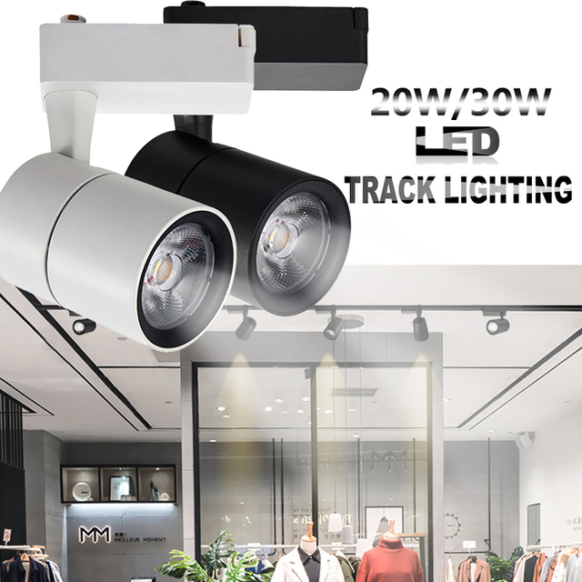 Modern Spot Tracking Light Rail Lamp 15 degree 20/30W COB Mounted Ceiling Clothes Shoes Spotlight Art Deco Ceiling lamp For Bar