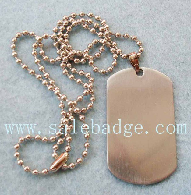 Personalized Logo Metal Dog Tag With Necklace Custom