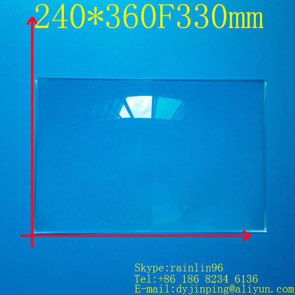 free shipping  15.6 inch lcd panel DIY projection screen projector fresnel lens 240MM*360MM focal length 330 MM