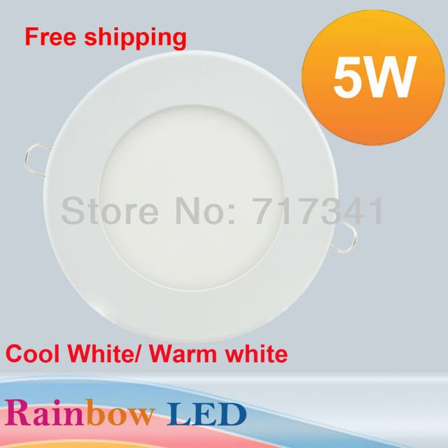 2017 Rushed New Ccc Ce Cqc 5pcs/lot Ultra Thin Led Panel Light 500lm Round Smd2835 Ceiling Wall Lamp Recessed Down Pure Bulb