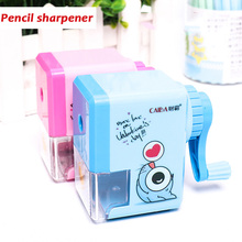 Japanese-style Hand Crank Mechanical Accessory Sharpener Creative Student muji Print Pencil Sharpener For Kids School Supply