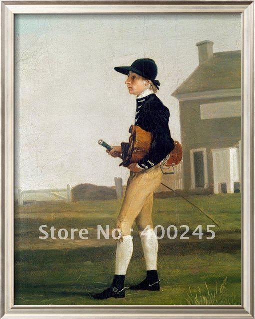 Landscape oil painting modern art Portrait of a Young Jockey by George Stubbs reproduction 100%handmade high quality