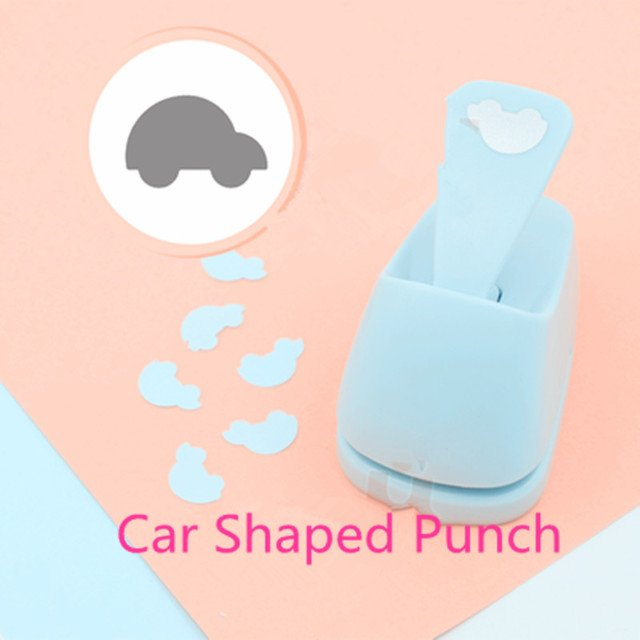 Free Shipping Car shaped save power paper/eva craft punch Scrapbook School Handmade punchers truck hole punches vehicle puncher