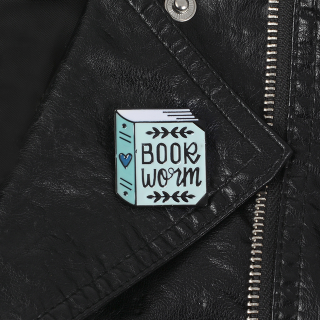 Heat Book Lapel pins Brooches Badges Cloth Backpack Bags Hats Leather jeckets Accessories Book lover jewelry