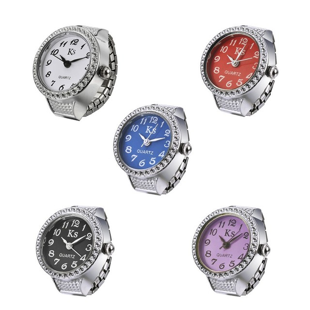 Unisex Personality girl lady clock hour New Design Alloy Quartz Ring Watches Finger Ring Watch women WH336