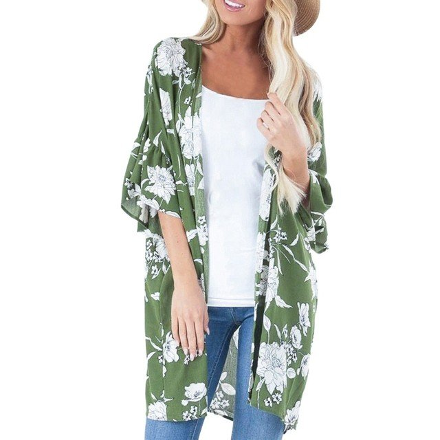 Floral Large Size Tunic Shirt Fashion Womens Floral Ruffles Blouse Fashion Loose Long Tops Blouse blusas mujer de moda