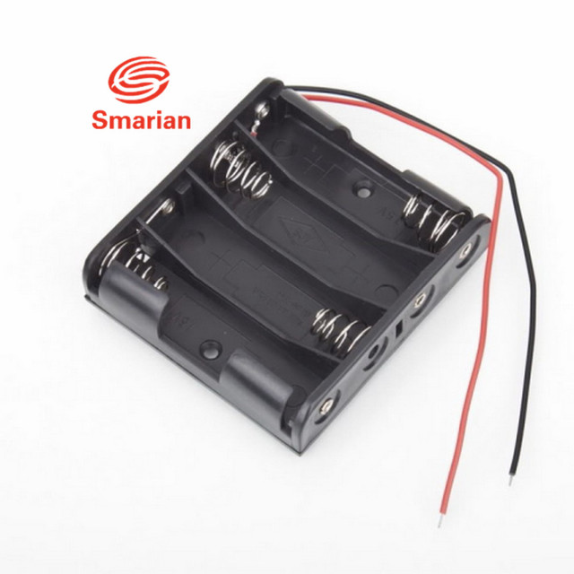3pcs 4 AA Battery Case Standard Slot Holder Case Battery Box for 4 Packs AA 2A Batteries Stack 6V diy rc toy robot