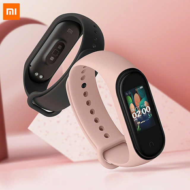 In Stock Xiaomi Mi Band 4 Original 2019 New Music Smart Miband 4 Bracelet Heart Rate Fitness 135mAh Color Screen Bluetooth 5.0