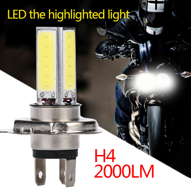 Headlight High Low Beam Motorcycle Parts Motorcycle Light High Power Motorbike Replacement COB 6000K White Front Lamp LED Light