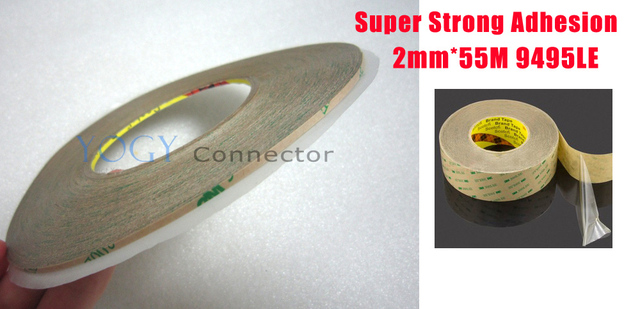 5x 2mm*55M 3M 9495LE 300LSE Two Sides Strong Sticky Tape for phone ipad samsung htc mobilephone screen lcd frame