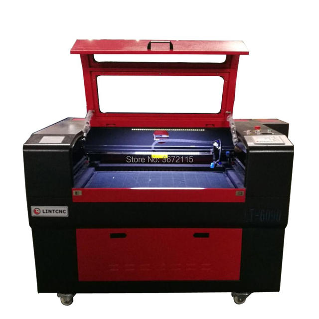 China 60W 80W 100W wood acrylic MDF fabric laser cutting machine/ 6090 1290 co2 laser engraving machine