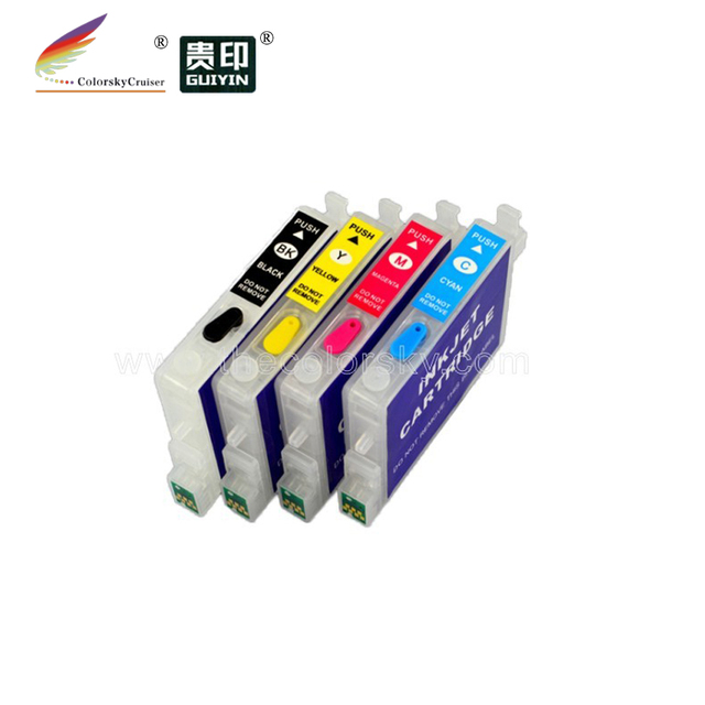 (RCE611-614) 5sets refillable refill ink cartridge for Epson 61 T0611 DX3850 DX3850+ DX4200 DX4250 DX4800 DX4800+ DX4850 DX4850+