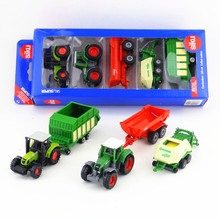 SIKU 6286/Diecast Metal Model/Claas and Fendt Farm vehicle Tractor gift set/for children's gift/Educational Collection/Small