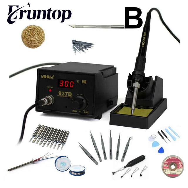 High quality 110V/220V 45W YIHUA 937D Eruntop 936 Constant Temperature Antistatic Soldering Station Solder Iron