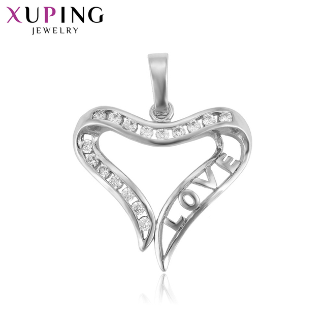 Xuping Fashion Elegant Heart Shape Pattern Pendant for Women Valentine's Day Jewelry Gift S81,2-33287