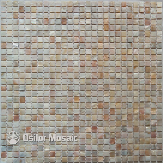 natural color 100% natural Chinese freshwater shell mother of pearl mosaic tile for bathroom decoration chip wall tile