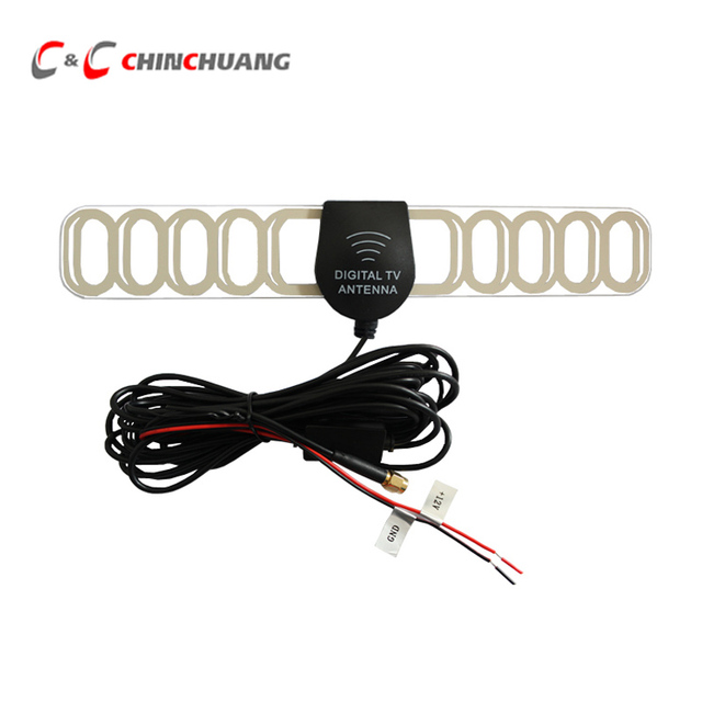 SMA Connector 5 Meters Car DVB-T2 ISDB-T DVB-T Digital TV Active Antenna with Booster Amplifier Automobile Vehicle Aerial