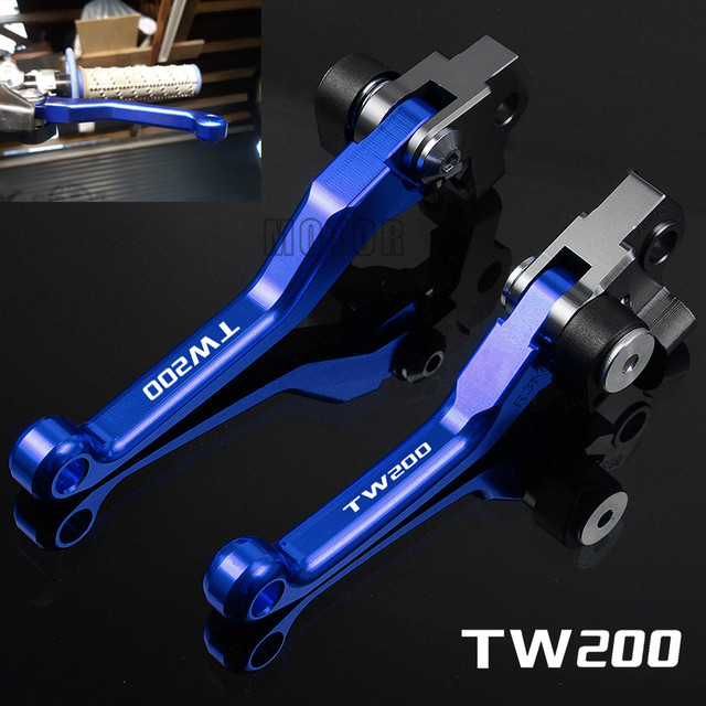For Yamaha TW200 TW 200 2000-2017 2016 2015 CNC Aluminum Motorcycle Dirtbike Dirt Pit Bike Motocross Pivot Brake Clutch Levers