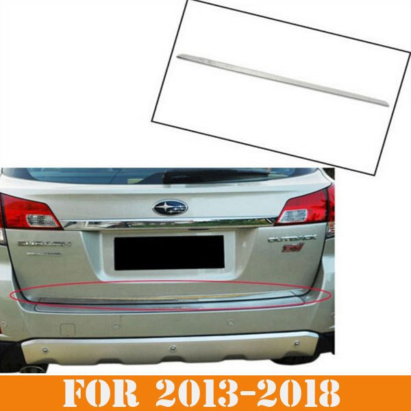 SIKALI SKL car styling accessories Stainless Steel Rear Trunk Lid Tailgate cover trim fit for 2013-2018 subaru outback