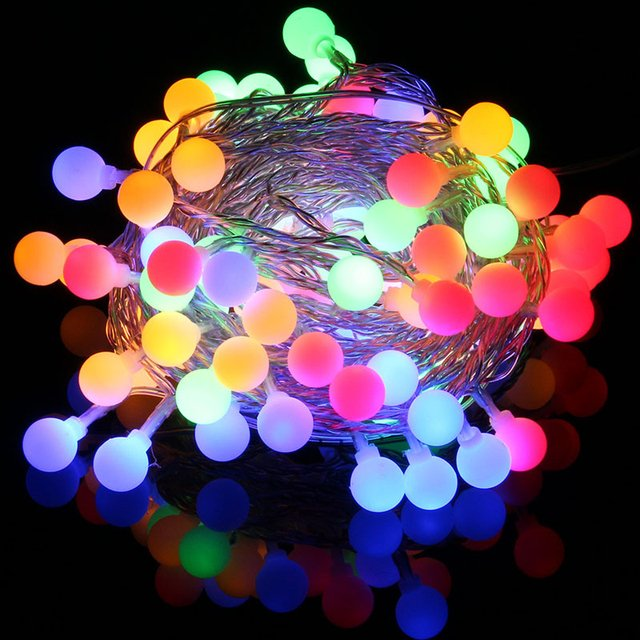 Fairy String 10LED Round Ball Battery Box 1.5M Wedding Garden Landscape Lamp Outdoor Yard Xmas Decor Festival