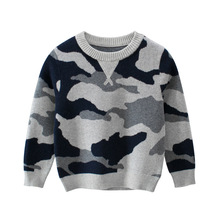 CYSINCOS Autumn Winter Boy Pullover Sweater Kids Striped Ribbed Knitting Sweater Children Soft Clothes Boys Tops Outfit Clothing