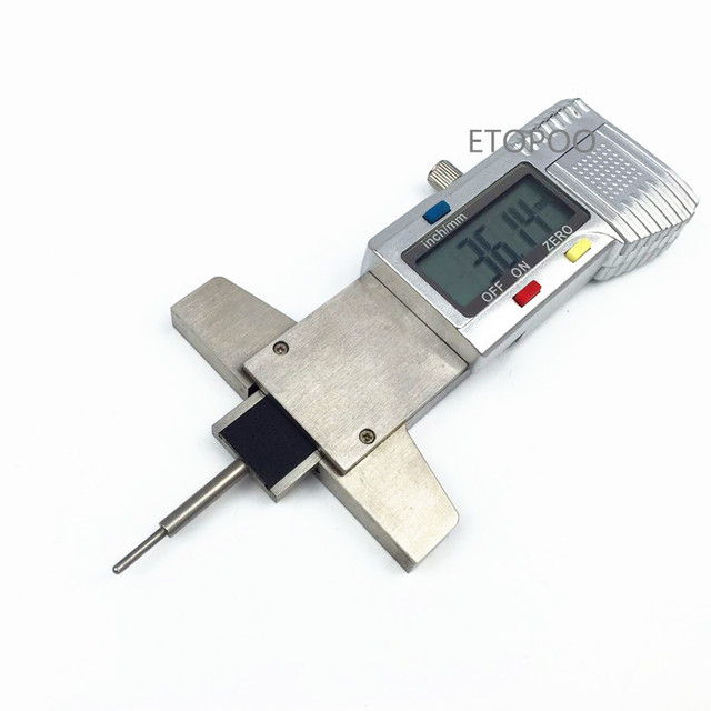 Digital Tread Depth Gauge 0-25mm LCD Stainless Steel Tyre Tread Depth Gauge Caliper Metric/inch Tread Ruler