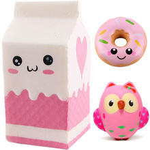 squishi squishy Donut milk bottle/can/box Squishes Soft Slow Rising kawaii Cute Antistress toy kids gift  toys for children  New