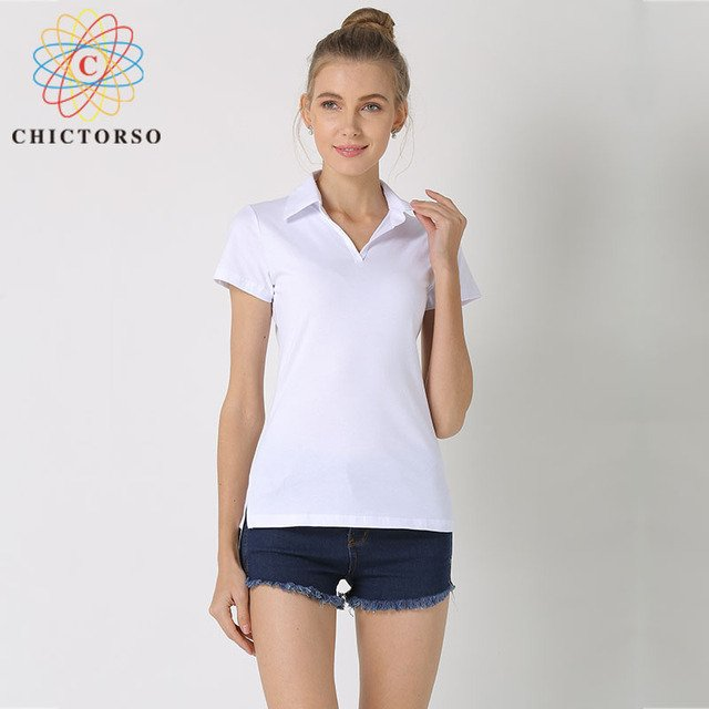 Chictorso Plus Size S-6XL Cotton T-shirts Women Short Sleeve V-Neck Plain T shirt Summer Tshirt Tops Pullovers Korean Tee Shirts