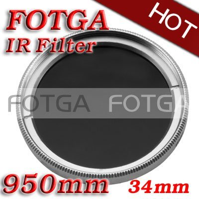 Wholesale IR Filter 34mm 950nm Infrared X-Ray IR Pass Filter 34mm for DSLR DVD DC camera