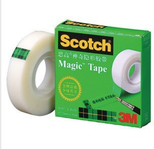 10x 3M Scotch 810 Single Sided Transparent Magic Tape 3/4 IN x 36YD (19mm*32.9M), Stationery, Office Using Tape