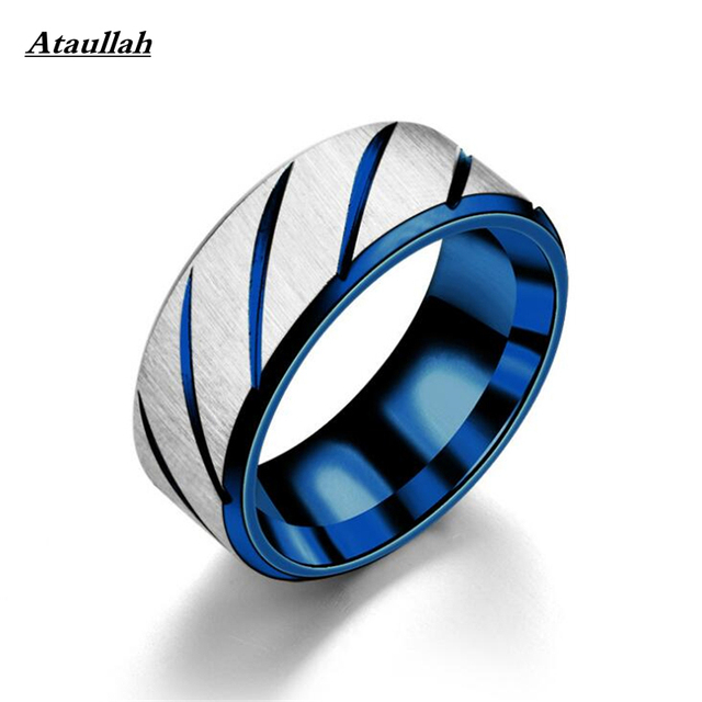 Ataullah Stainless Steel Rings For Men Three Colors Lines Trendy Wedding Rings Fashion For Women Party Jewelry Wholesale 7-056