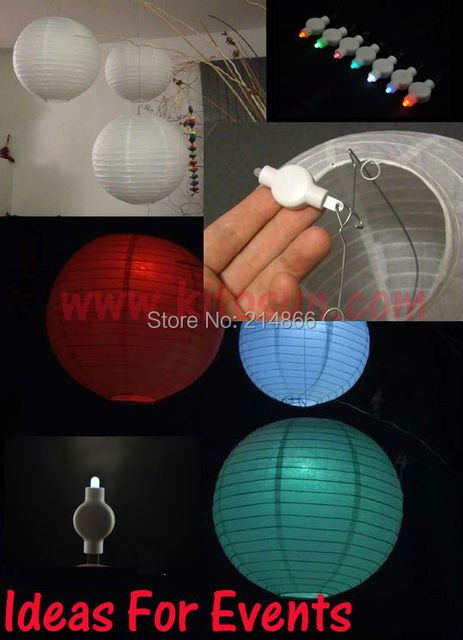 100pcs/Lot CR2032 Battery Powered Hanging LED Floralyte Mini LED Party Light For Paper Lantern Lighting Wedding Party Event Deco