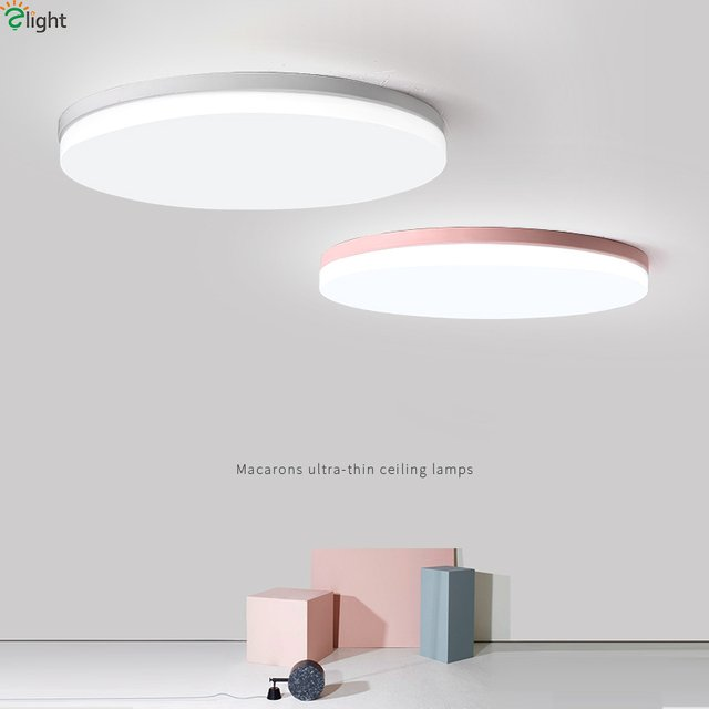 Nordic Multicolor Alloy Led Ceiling Lights Living Room Round APP Dimmable Led Ceiling Lamp Bedroom Led Ceiling Light Fixtures