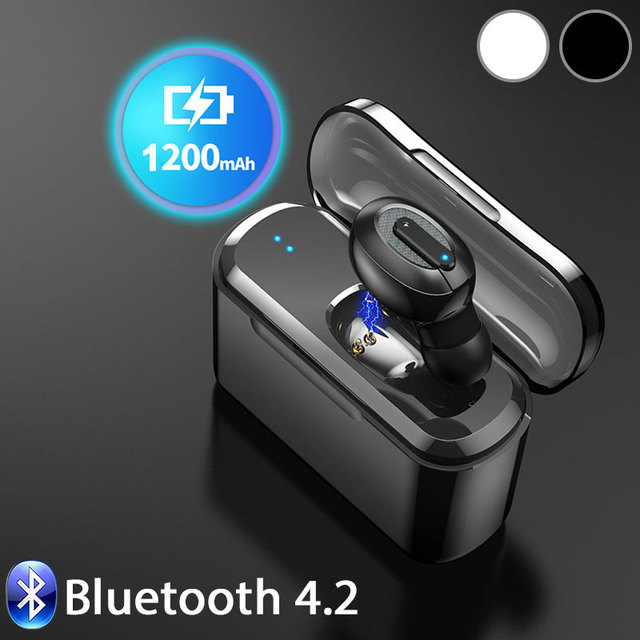 with Charging Box Stereo Earset Wireless Bluetooth Headphone Noise Reduction Calls To Reject Invisible Earphones Mini Detailed