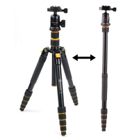 Victory Travel Tripod Monopod A-258 with Bag for DSLR Camera