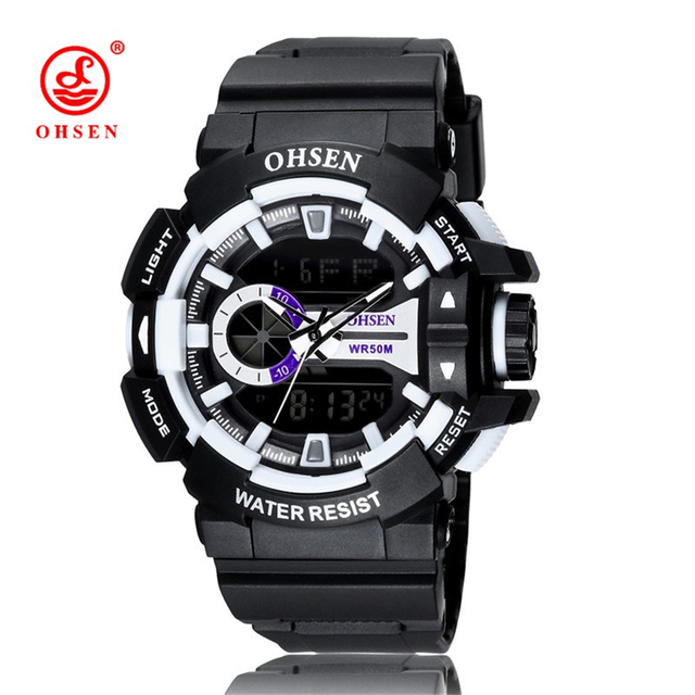 OHSEN Brand Digital LED Watch Outdoor Casual Dress Wristwatches 2016 New Mens Boys Military Sports Watches Relogios Masculinos