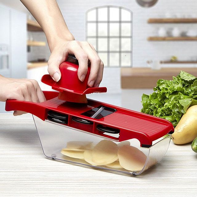 Manual Potato Slicer Vegetable Fruit Cutter Stainless Steel Mandoline Onion Peeler Carrot Grater Dicer Kitchen Tools