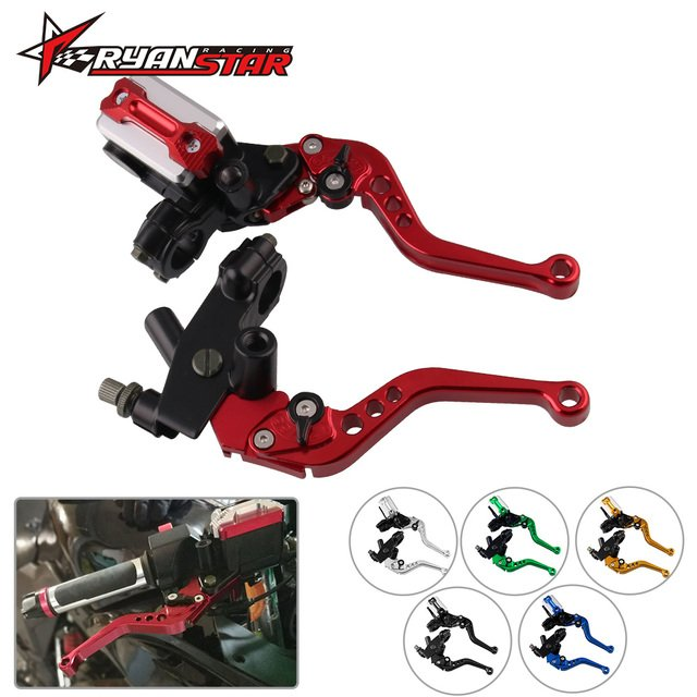 """Motorcycle Brake Clutch Pump Lever Hydraulic Master Cylinder Accessories 7/8"""" 22mm Universal CNC for Honda Yamaha"""