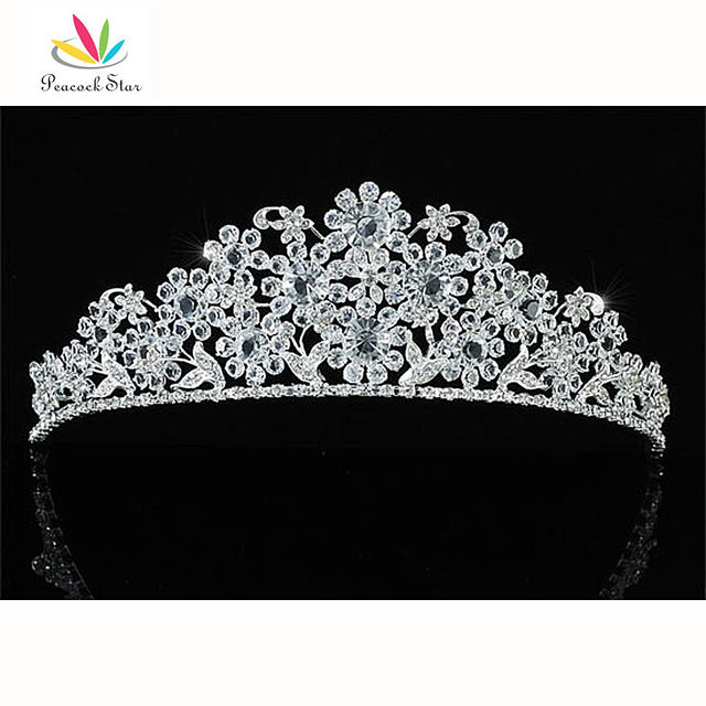 Peacock Star Bridesmaid Bridal Wedding Pageant Prom Flower High Quality Tiara use Austrian Crystal CT1615