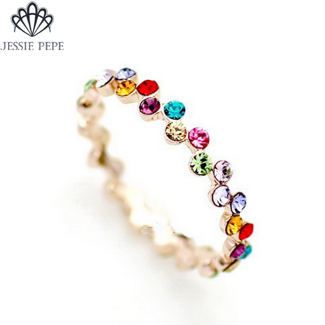 Jessie Pepe Italina Rigant    Austria Crystal Ring Aliancas With Austrian Crystal Welcome Wholesale a#JP95241