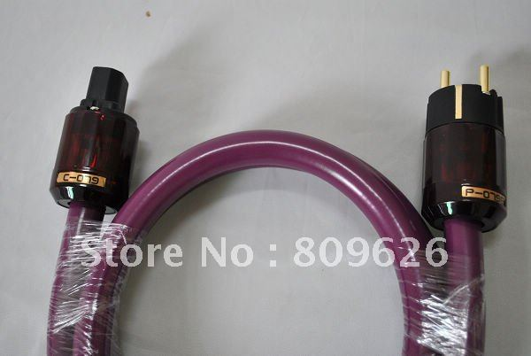 Furutech Alpha PS-9 P-079e + C-079 High-End Gold plated Plugs Power Supply Cable EU power cords new condition