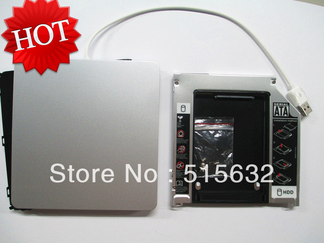 "Чехол для Apple Macbook Pro unibody 13 ""HDD SSD Optibay адаптер Caddy Kit USB DVD Чехол"