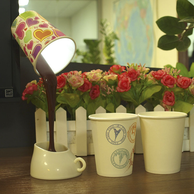 CNHIDEE USB Novelty Reading Lampara DIY Table Lamp Coffee Cup Led Night Lights as Art Decor Creative Gifts Besides Lampara