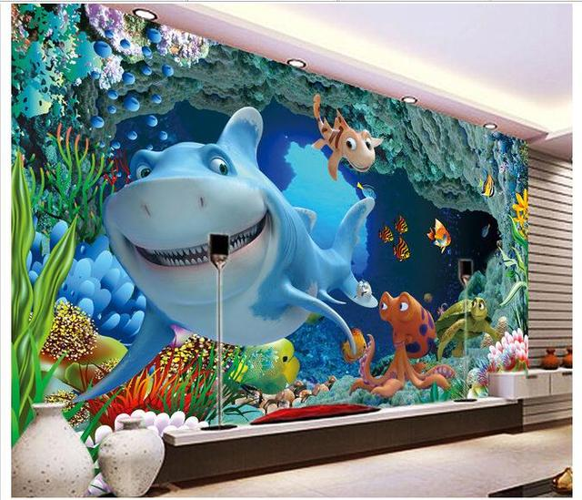3D wallpaper custom mural Underwater world 3 d TV setting wall decoration painting murals wall papers home decoration