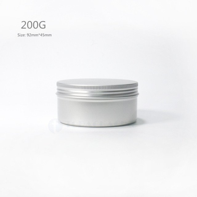 200G x 50 Aluminum  Jar,screw cap Empty cosmetic container cream jar sample tin 200ml lip balm metal pot Nail art cansfor mask