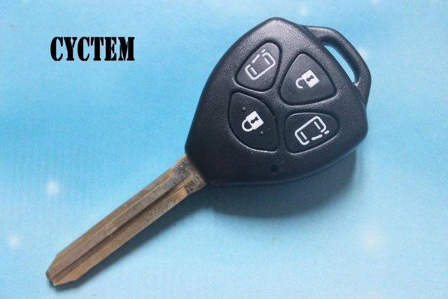 CYCTEM Car Key Cover Casing 4 Buttons Remote Key Shell Fob Case Fit For Toyota Camry With Toy43 Blade